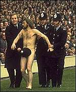 Michael O'Brien, the streaker with the bobby hat.
