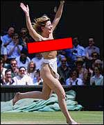 Melissa Johnson the Wimbledon streaker